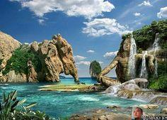 #art #artoftheday #fantasy #cakkocem #wallpaper #landscape #beach  #island  #waterfall  #cliff  #rocks  #scuplture  #sculpturart #picture #image #editor #photomafia #photography  #photomanipulation #manipulation #imagemanipulation #imagination #manipulationclan #ig_world #ig_europe #ig_worldclub #igdaily #igdailytoday #creative #surreal #surrealphotography #lumixmasters