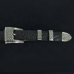 "Alexander Kalifano White Bronze 1"" Link Belt Buckle - AKAWB60"
