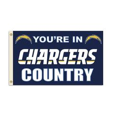San Diego Chargers NFL You're in Chargers Country 3'x5' Banner Flag