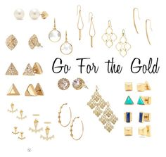 """""""Go for Gold!! Earrings www.stelladot.com/sites/ashleydejong"""" by ashley-dejong on Polyvore featuring Stella & Dot"""
