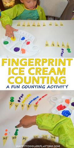 Ice Cream Cone Counting – Toddlers and Preschoolers Gross Motor Activities, Counting Activities, Toddler Learning Activities, Play Based Learning, Preschool Math, Kindergarten Activities, Toddler Preschool, Counting For Toddlers, Maths Eyfs