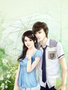 Love Cartoon Couple, Cartoon Girl Images, Cute Cartoon Pictures, Cute Couple Art, Anime Love Couple, Cute Anime Couples, Sweet Couple, Cute Love Wallpapers, Cute Girl Wallpaper