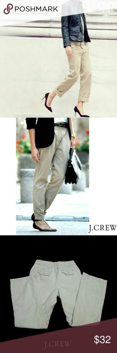"""J.CREW CLASSIC TWILL ORIGINAL FIT CHINO PANTS J.CREW CLASSIC TWILL ORIGINAL FIT CHINO PANTS Pre-Loved  / EUC/ Pic for Similarity  Photos May Appear Lighter Than Actual. Classic Chinos SZ 6 """"Weathered & Broken In"""" Look by J.Crew 100% Cotton Approx Meas;    *   Waist   15""""    *   Inseam   31""""    *   Rise    9 1/2""""    *   Leg Opening   9 1/2"""" Pls See All Pics. Ask ? If Not Sure J. Crew Pants Straight Leg"""