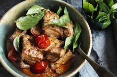 Add some heat to the dinner table with this aromatic explosion of Asian flavours. You'll need a roast pork belly for this recipe, or, this curry is also great with roast chicken or duck. You can also use fresh meat such as chicken, duck or pork fillets.