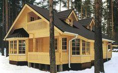 Загородный дом из бруса_House from timber