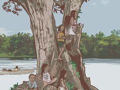 """A quarta edição da revista Greenpeace, disponível no site da organização, traz a história em quadrinhos sobre aluta dos índios Munduruku contra a construção de um complexo de cinco hidrelétricasnos riosTapajós e Jamanxim. A obrapode alagar a terra indígena Sawré Muybu, além de trazer impactos sociais e ambientais graves para a região. Oresto dessa história...<br /><a class=""""more-link""""…"""