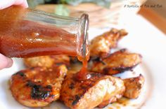 Easy grilling recipes including this peach BBQ sauce #recipe