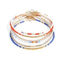Summer Friendship bracelet, best friend bracelets, colorblock adjustable bracelet, stackable bracelets Details: - Miyuki delica glass beads