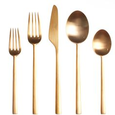 Rondo Gold Cutlery, Cutipol. I've never seen matte gold cutlery!