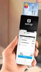 SumUp's card readeraccepts Visa, MasterCard and debit card payments. Taxi.de drivers will also be furnished with the SumUp app so they can take payments from walk-in passengers, as well as those who book through Taxi.de's app