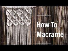 1 How To Make Macrame Wall Hanging 1 Basic – Macrame Macrame Design, Macrame Art, Macrame Projects, How To Macrame, Macrame Wall Hanging Patterns, Macrame Patterns, Micro Macramé, Macrame Tutorial, Knots