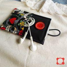 minimal pouch  tattoo black  2 extra pockets by qtpiworkshop, $14.00