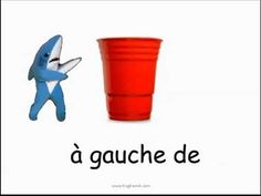 """Some of the most common prepositions in French. Useful for units on """"la ville."""" In our class we will practice our prepositions using mini shark cut-outs and . High School French, French Grammar, Core French, French Classroom, French Resources, French Immersion, Ways Of Learning, French Lessons, Teaching French"""