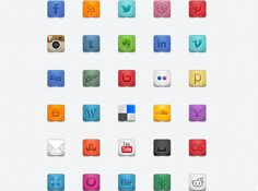 This set includes thirty-five 32x32 icons in PNG and PSD format.