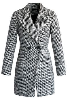 Classy Double Breasted Tweed Coat