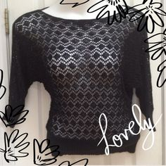 Beautiful Black Crochet Top Beautiful Black Crochet Top. Looks great over a tank top or tube top. Forever 21 Tops