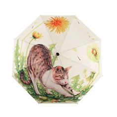 Lazy Cat Original Illustrations Umbrella Manual Folding Sun/Rain Umbrella