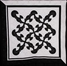 """Almost Black & White"" by Peggy Marquardt. NQA 2014 Quilt Show, 2nd place - pieced, medium."