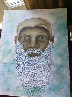 beard of bees Bees, Artwork, Painting, Wood Bees, Work Of Art, Painting Art, Paintings, Paint, Draw