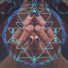 Sri yantra infused mudra
