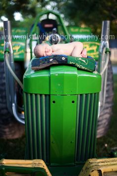 Baby on a tractor....want something like this!!!!Newborn ~ Cole {Granbury Newborn Photographer} » Misti White Photography
