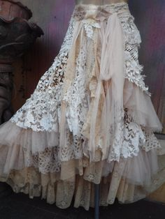 Hey, I found this really awesome Etsy listing at https://www.etsy.com/listing/513222001/20off-weddingtattered-skirt-boho-mori