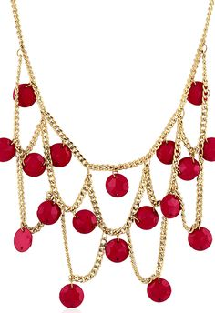 Trending chain princess-style-necklaces with sequins and beads  via @Roposo