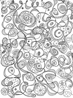 Abstract Coloring Page Sheet For Kids Teens And Adults