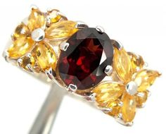 CITRINE  SILVER RING  32.35 CTS  SIZE- 9.50   RJ-294  mixed gemstone ring , gemstone ring , ring size , silver gemstone ring , sapphires, ruby , emerald, citrine, diamonds, amethyst