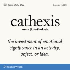 Cathexis:- the investment of emotional significance in an activity, object, or idea