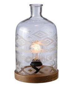 Look what I found on #zulily! Etched Jar Lamp #zulilyfinds