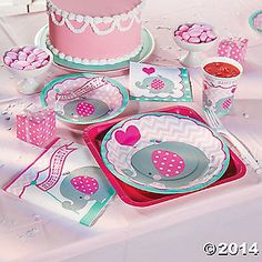 Celebrate her 1st Birthday with 1st Pink Elephant Party Supplies!