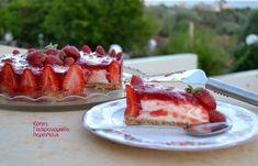 Τούρτα φράουλα με κρέμα γιαουρτιού - cretangastronomy.gr