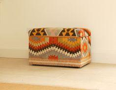 Kilim Ottoman   for wintertime airconditioner storage