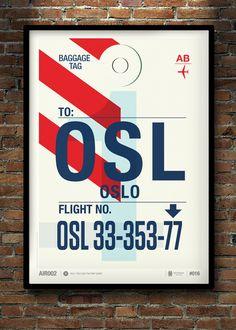 Love Neil Stevens design! This Flight Tag Prints Series is just great. Vol. 2 by Neil Stevens, via Behance
