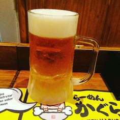Así de fresquita servimos nuestra cerveza japonesa Kirin de barril en #Ramenkagura #Repost @sergiosevilleja