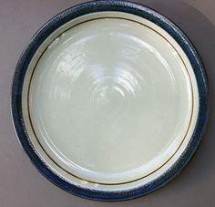 Otagiri MARINER Chop Plate Round Serving Platter Stoneware Japan Blue Band 12 in #Otagiri