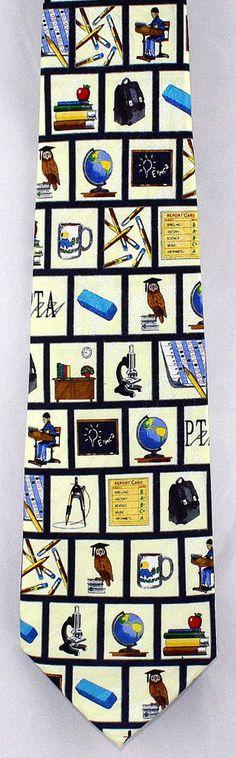 Math /& Spelling Men/'s Necktie School Teacher Teaching Education Blue Neck Tie
