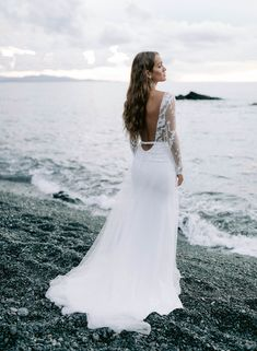 wedding dress, bridal, gowns, bridal After Wedding Dress, Wedding Gowns, Bridal Gowns, Parisienne Chic, Crepe Skirts, Sophisticated Bride, Rime Arodaky, Bride Look, Down Hairstyles