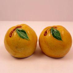 Vintage Yellow Lemon Fruit Salt Pepper Shakers, Made in Japan by ExtraVintage on Etsy