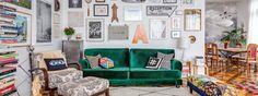 A decoração do apartamento da ilustradora e designer Ana Strumpf passeia por diferentes estilos e épocas com naturalidade.