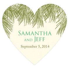 Evergreen Heart Sticker - Weddingstar