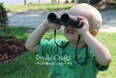 Binoculars made from toilet paper rolls!