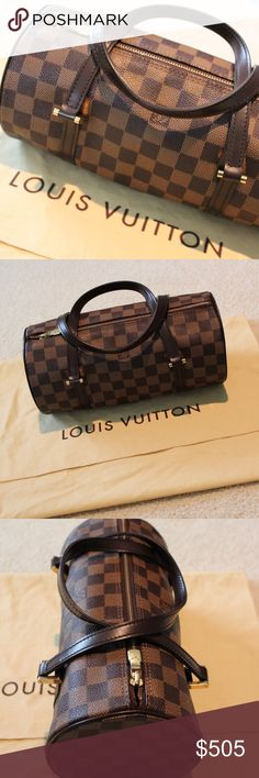Louis Vuitton Damier Ebene Papillon 26 100% AUTHENTIC Louis Vuitton Papillon 26 in Damier Ebene Print - Smoke Free/Pet Free Home.  Minor scratches on the hardware and regular usage but great for the age/condition! This particular bag is discontinued. Comes with the dust cover.   I do not have the receipt/box anymore. But Poshmark offers free authenticity verification if you purchase this bag for $500+ or more. Will provide date photo proof upon request. Louis Vuitton Bags