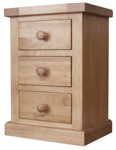 County Pine Small 3 Drawer Bedside Cabinet