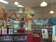 Wild about Summer Reading Jungle paper snake library display