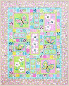 Oops a Daisy Applique Quilt Pattern by Kids por BeaverheadSupplies