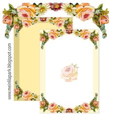 Free Printable Vintage Flower Borders