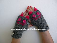 cat gloves - very cute