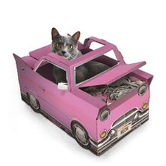 Car shaped cat box from Suck UK